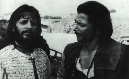 Ringo Starr And Tony Anthony On The Set Of Blindman 1971